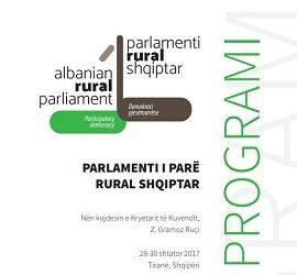 """Broshurë """"Parlamenti i I-rë Rural Shqiptar"""""""