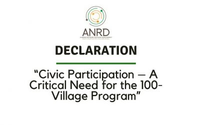 "DECLARATION: ""Civic Participation – A Critical Need for the 100-Village Program"""