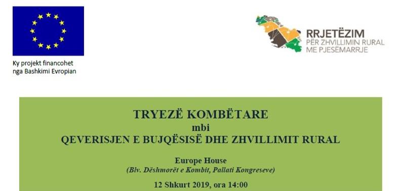 Tryezë Kombëtare mbi Qeverisjen e Bujqësisë dhe Zhvillimit Rural
