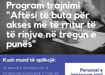 """THIRRJE PËR PJESËMARRJE: Program trajnimi  """"Aftësi të buta për akses më të rritur të të rinjve në tregun e punës"""""""
