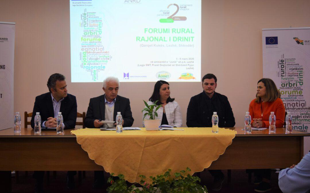 Forumi Rural Rajonal i Drinit nis rrugëtimin për në Parlamentin II rural shqiptar