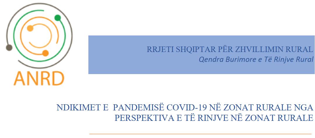 Ndikimet e pandemisë covid-19 në zonat rurale nga perspektiva e të rinjve në zonat rurale