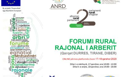 Albanian Network for Rural Development held on line the regional rural forums of Arbër and Vjosa