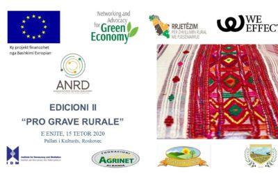 Prioritetet dhe aspiratat e grave dhe vajzave në zonat rurale në fokus të edicionit II të Pro-Grave Rurale